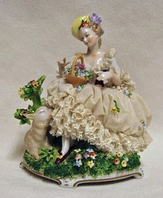 Dresden Lace Figurines | Beautiful Dresden lace lady