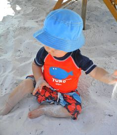 050292960b3 Baby sun protection clothing offers protection to sensitive baby skin. Even  under a tent UV