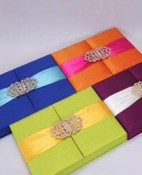 Choose the colour going with your wedding theme... silk fabric draped and embedded with broach...