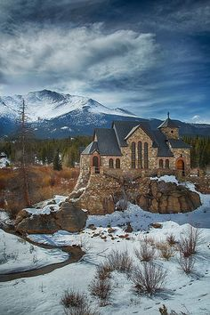 The Chapel on the Rock (officially, Saint Catherine of Siena Chapel) in Allenspark, Colorado