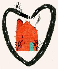 detail from Emma Lewis House Illustration, Graphic Design Illustration, Emma Lewis, School Of Visual Arts, Romanticism, Artsy Fartsy, Illustrators, Fine Art, Drawings
