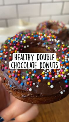 Healthy Sweet Treats, Healthy Desserts, Easy Desserts, Delicious Desserts, Yummy Food, Fun Baking Recipes, Snack Recipes, Dessert Recipes, Chocolate Donuts