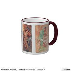 Alphonse Mucha , The four seasons リンガーマグカップ