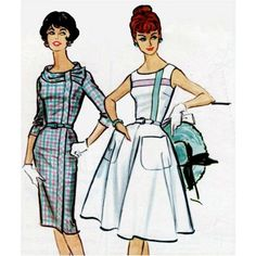Vintage 1950s Wiggle or Bombshell Dress Sewing Pattern  Bust 34