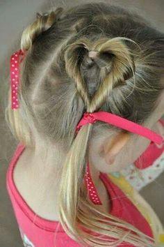 Girls Valentines Day hair do