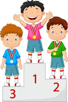 Poco muchacho de la historieta celebra su medalla de oro en el podio Sports Day Decoration, Board Decoration, Summer Preschool Themes, Action Pictures, Sports Clips, Sports Awards, Pics Art, Borders For Paper, People Illustration