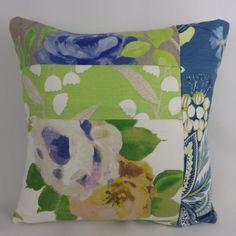 Designer Floral Patchwork Cushion