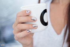 Nail art ongles de marbre