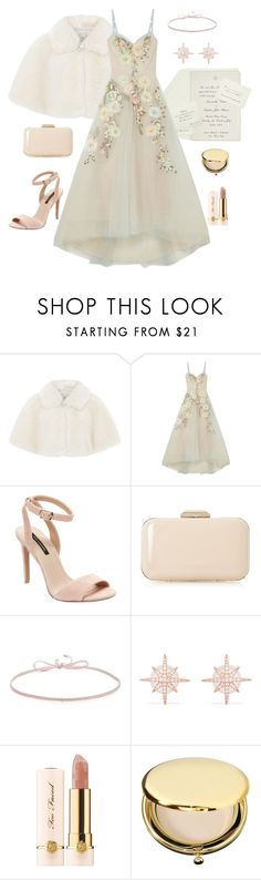 """""""Spring Wedding"""" by daisy-pippin ❤ liked on Polyvore featuring Ultimate, Monsoon, Notte by Marchesa, Ava & Aiden, Dune, Finn, Too Faced Cosmetics, Estée Lauder, wedding and pastels"""