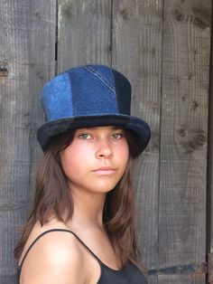 Denim top hat, festival top hat, recycled denim top hat,jeans hat, upcycled hat, top hat,boho denim hat,festival wear,over to you by OverToYou on Etsy https://www.etsy.com/uk/listing/530759087/denim-top-hat-festival-top-hat-recycled