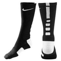 Nike Elite Basketball Crew Sock - Black/White