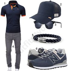 Dunkelblaues Herrenoutfit mit Poloshirt, Chino und Cap #poloshirt #newbalance #armband #outfit #style #herrenmode #männermode #fashion #menswear #herren #männer #mode #menstyle #mensfashion #menswear #inspiration #cloth #ootd #herrenoutfit #männeroutfit