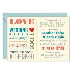 Love Notes Rehearsal Dinner Invitation... idk why i like this style!!! =)