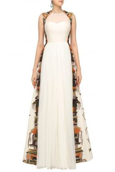 Samant Chauhan Off White Embroidered Gown #happyshopping #shopnow #ppus