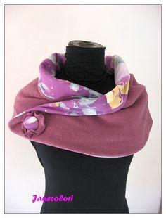 coprispalle/cacheur, scialle/stola o gonnelina, doubleface, viola e fucsia : Sciarpe, foulard, cravatte di janecolori-accessoires
