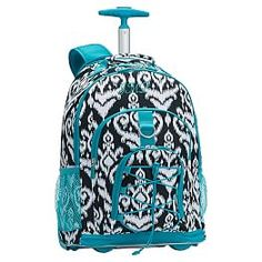 Details about Floret Rolling Backpack Wheeled Bookbag Carry Campus ...