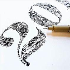 Illustrated lettering by @blogcpcdesign #designspiration #design #illustration…