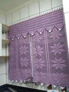 Crochet Curtain Patterns Part 10 - Beautiful Crochet Patterns and Knitting Patterns Crochet Motifs, Thread Crochet, Crochet Shawl, Diy Crochet, Crochet Doilies, Crochet Flowers, Crochet Patterns, Knitting Patterns, Crochet Curtain Pattern