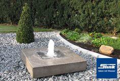Gartenbrunnen Elemento Small Water Fountain, Side Garden, Aquaponics, Go Green, Water Features, Garden Landscaping, Sidewalk, Home And Garden, Landscape