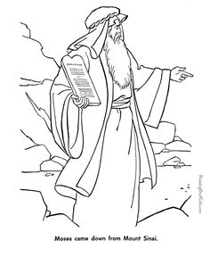 Free Bible page to print and color