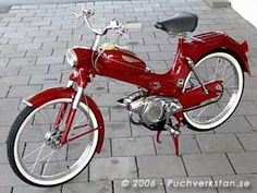 Puch my dream when I was young Vintage Moped, Vintage Bicycles, Vintage Motorcycles, Custom Motorcycles, Cars And Motorcycles, Classic Bikes, Classic Cars, Classic Vespa, Electric Moped Scooter