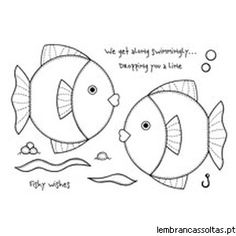 Woodware - Clear Stamp - Patch Fishes