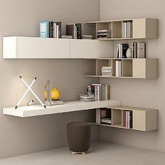 Beautiful Light Wooden Tortora Bookshelves Wall Unit Elegant Fantastic Piece