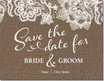burlap lace Invitations & Announcements