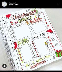 Bullet Journal Tracker, Bullet Journal Notebook, Bullet Journal Spread, Bullet Journal Layout, Bullet Journal Inspiration, Christmas To Do List, Christmas On A Budget, Journal Covers, Journal Pages