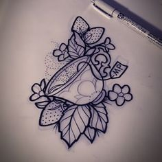 Image result for teacup tattoo