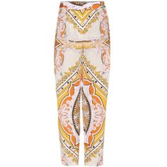 mytheresa.com - Printed silk wide-leg trousers - wide leg - pants - clothing - Luxury Fashion for Women / Designer clothing, shoes, bags