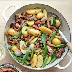 This quick sausage casserole recipe is the perfect light summery meal.