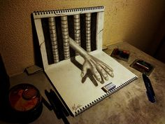 This Artist Only Uses Pencils And Notebooks. But What He Draws Is Absolutely Incredible.