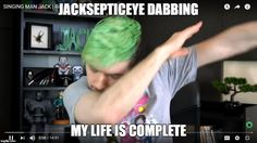 Jack dabbing for the hell of it.