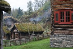 Old Norwegian farm, Trondheim, Norway