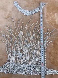 handmade silver sew on silver hinestones applique on mesh peal crystals trim patches for wedding dress accessories Zardozi Embroidery, Bead Embroidery Patterns, Couture Embroidery, Embroidery Fashion, Hand Embroidery Designs, Beaded Embroidery, Sewing Circles, Wedding Dress Accessories, Sequin Fabric