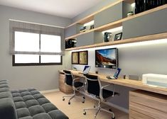 New Home Office Casal Quarto Ideas Home Office Setup, Home Office Storage, Home Office Space, Home Office Furniture, Office Organization, Office Ideas, Small Office Design, Office Interior Design, Office Interiors