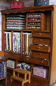 Miniature sewing stores for inspiration