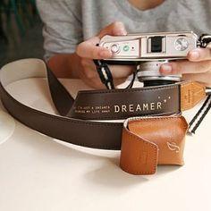 'Dreamer' camera strap <3