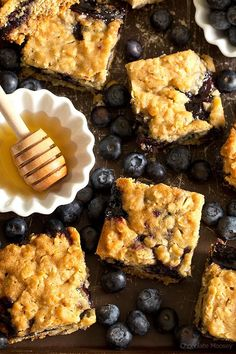 Soft, moist, and reminiscent of oatmeal cookies, Honey Blueberry Oatmeal Bars…