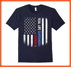 Mens Real Life Superhero Grandma shirt 2XL Navy - Superheroes shirts (*Partner-Link)