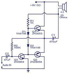 3 Transistors Audio Amplifier #Circuit #Electronics
