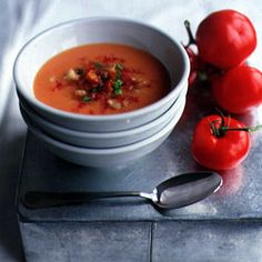 Making Spanish gazpacho is one of our favorite ways to showcase the season's tomatoes.