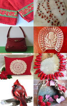 Delicious Reds by Debbie Williams on Etsy-Great red  Etsy Treasury  Very creative handmade gifts-Pinned with TreasuryPin.com