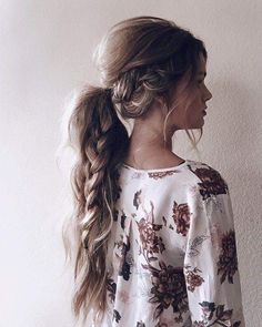 Messy Low Braided Ponytail. The Best Braids for Long Hair Boss Babes - Wonder Forest