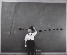 Joan Miró | The triptych Blue, I, II, II, on huge canvases
