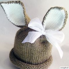 Easter Bunny Baby Hat, Photo Prop, Peter Rabbit Cottontail, CUSTOM Knit You Pick the Size Boy Or Girl
