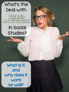 What's the Deal With Tiered Activities in Social Studies? Reach each student at his or her own level with tiered social studies instruction. It's easier than you think! 7th Grade Social Studies, Social Studies Notebook, Social Studies Classroom, Social Studies Activities, History Classroom, Teaching Social Studies, History Teachers, Teaching History, History Education