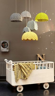 just some stars and lamps for the baby bedroom