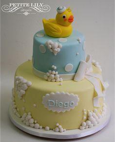 Rubber duck cake - Bolo Patinho
